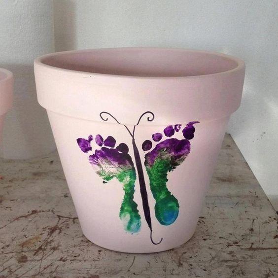 Vaso de planta para o dia das mães
