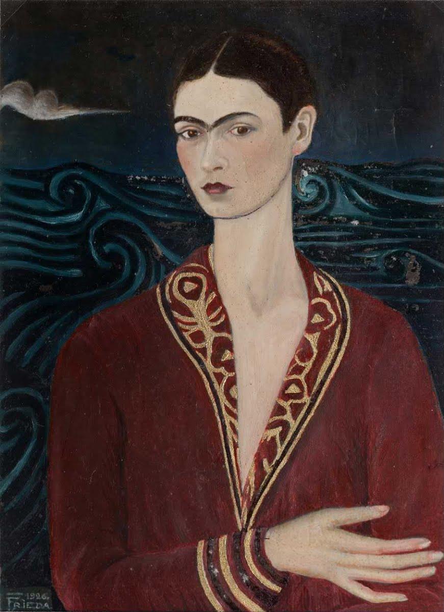 Autorretrato com vestido de veludo (1926)