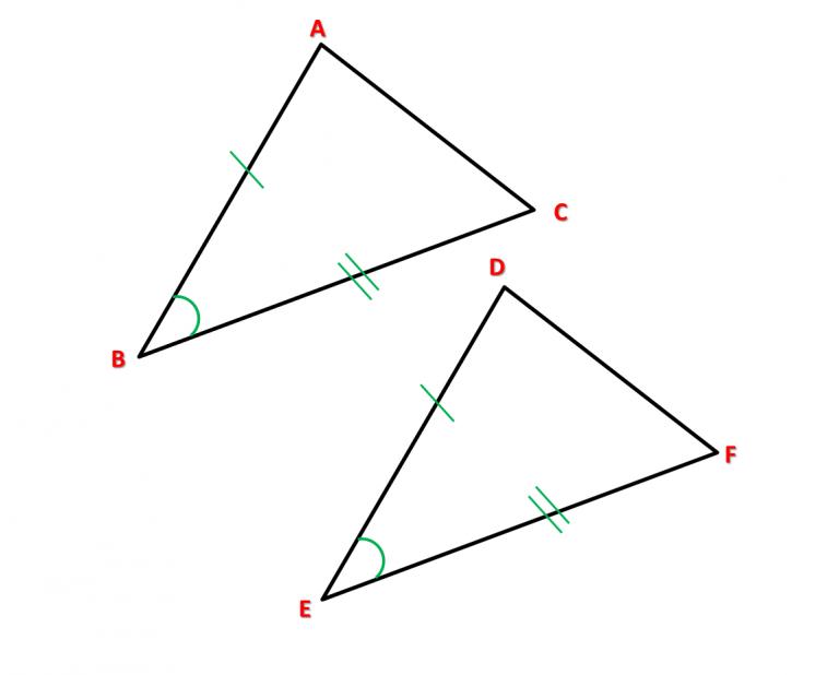 Caso 2 triângulos congruentes