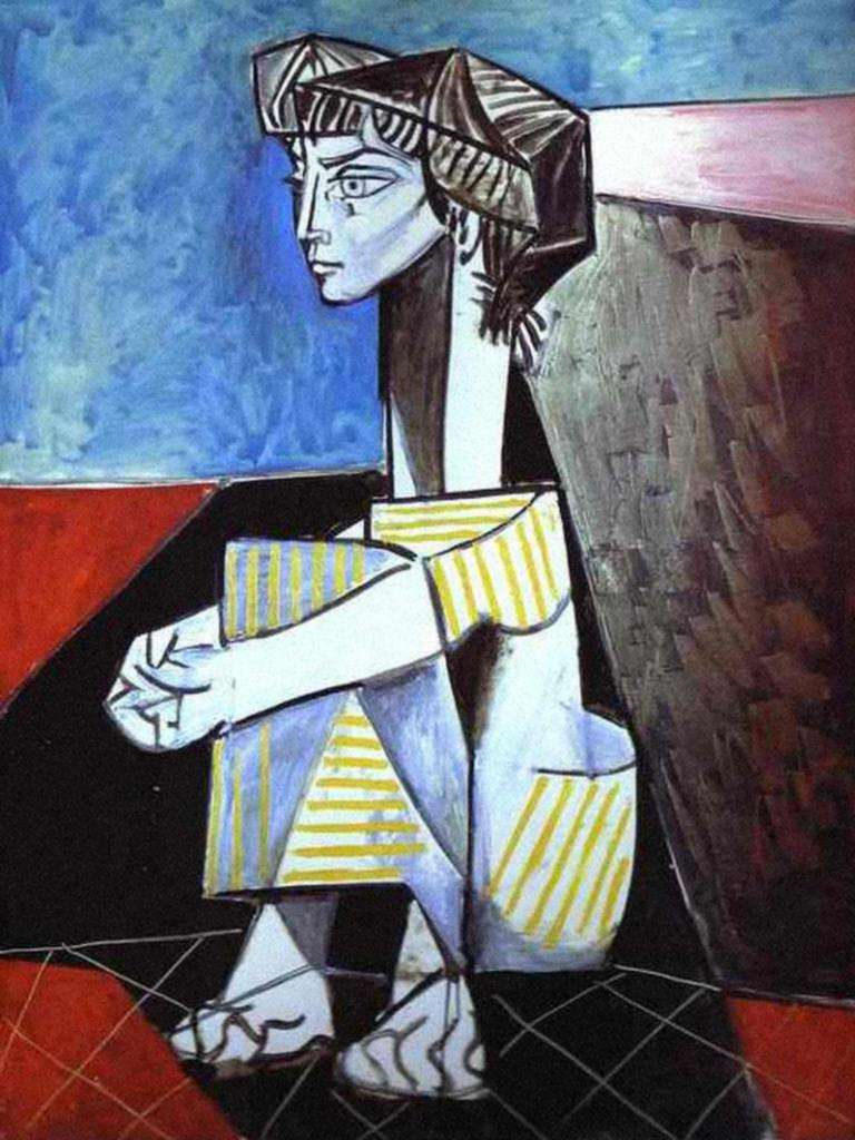Jacqueline de mãos cruzadas (1954)