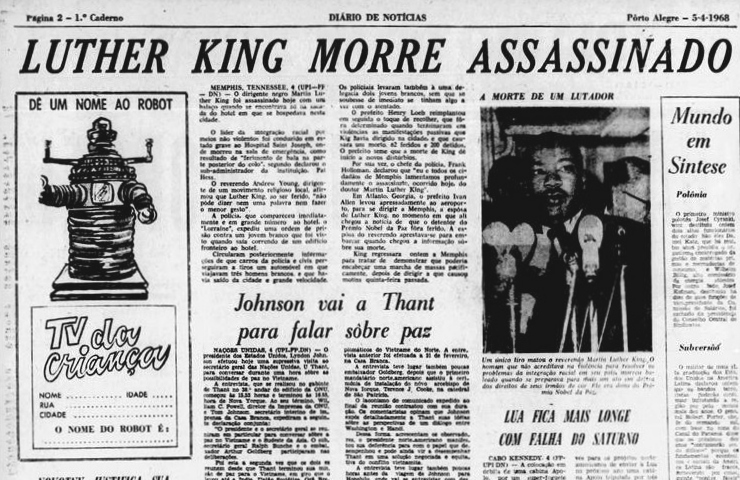 Martin Luther King assassinado
