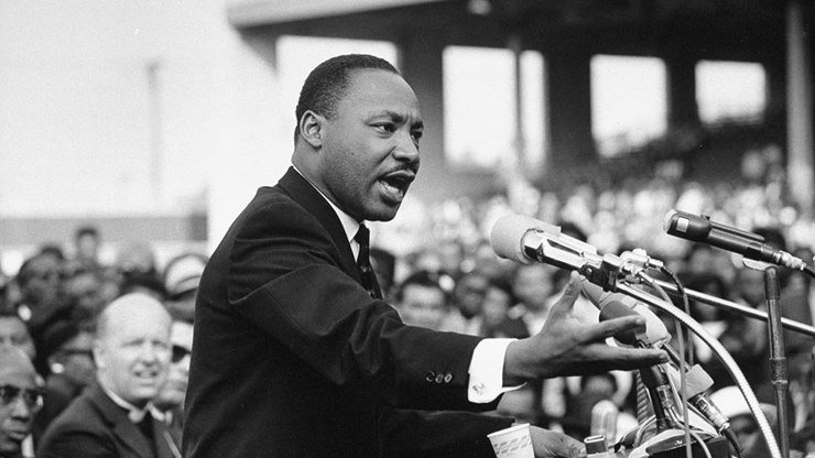 Martin Luther King discursando