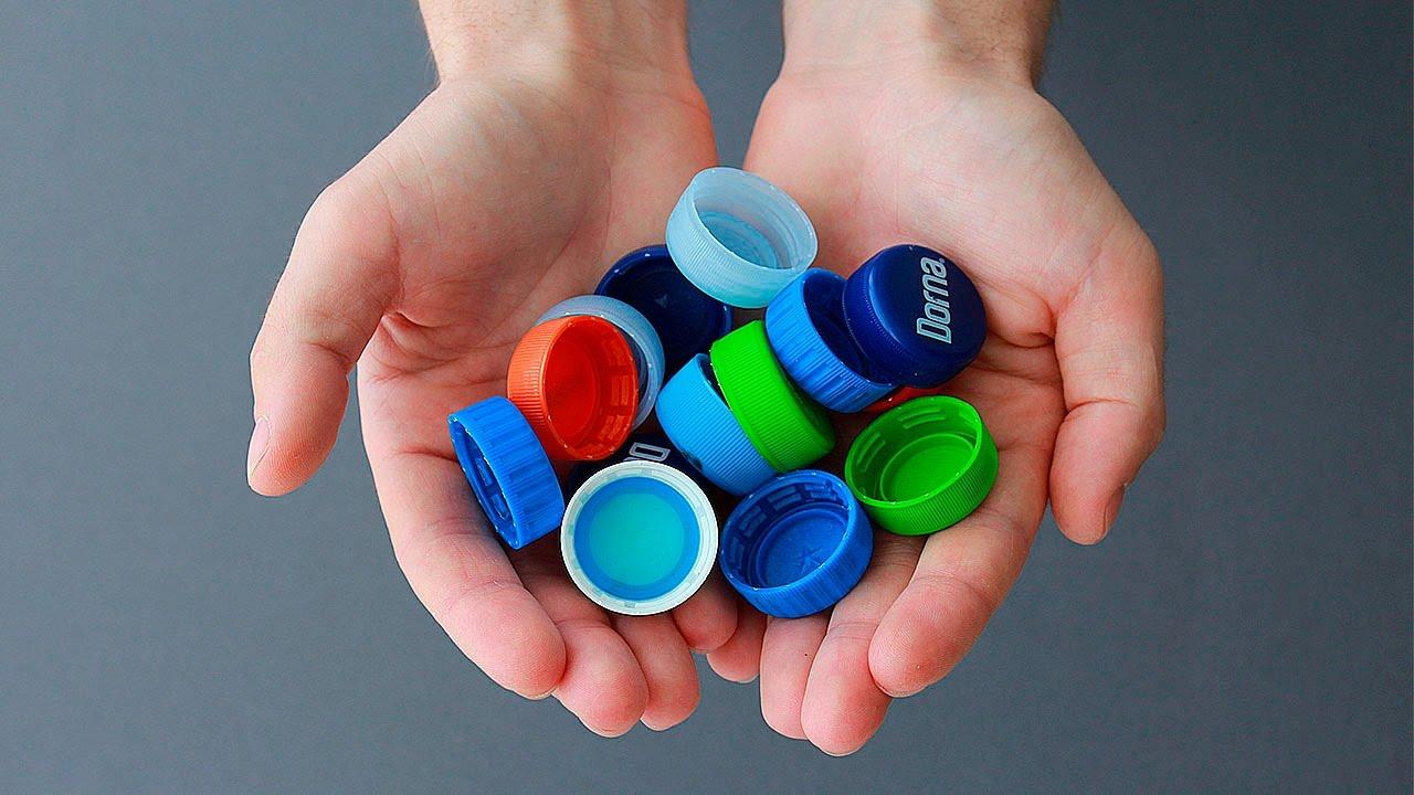 Tampinhas de garrafa pet