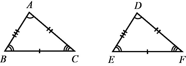 Triângulos congruentes