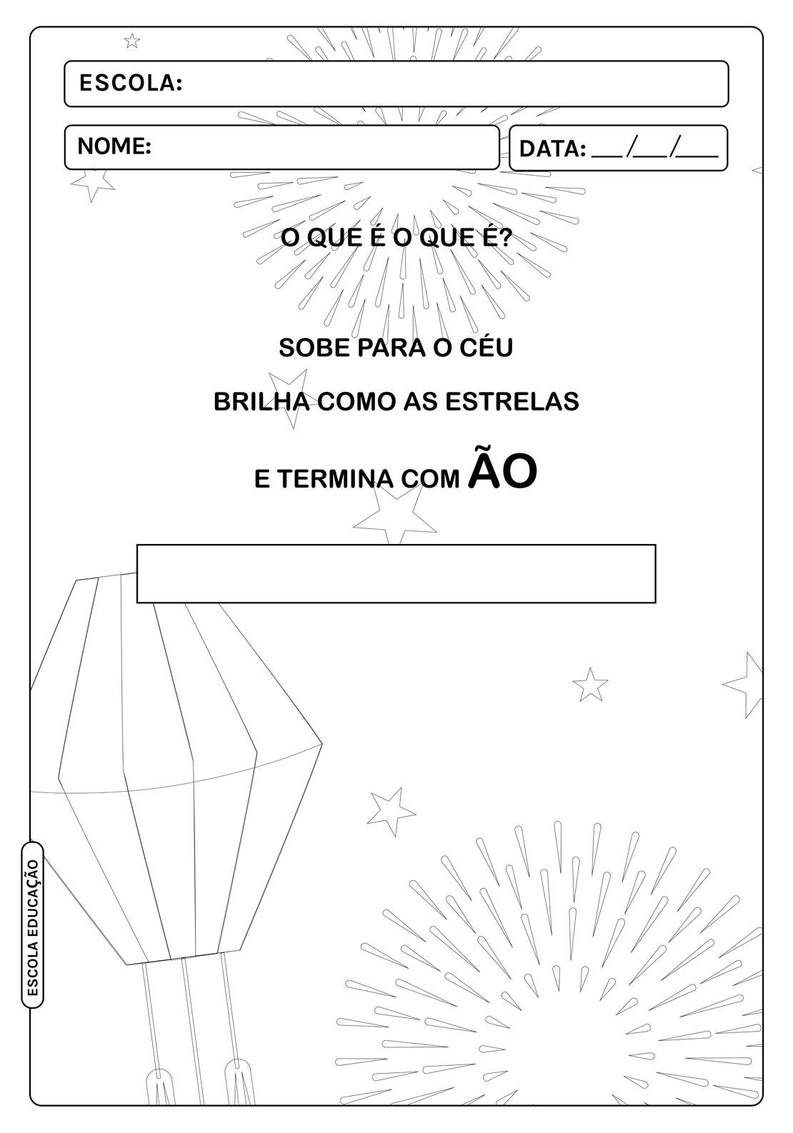 Atividades Festa Junina para imprimir inéditas