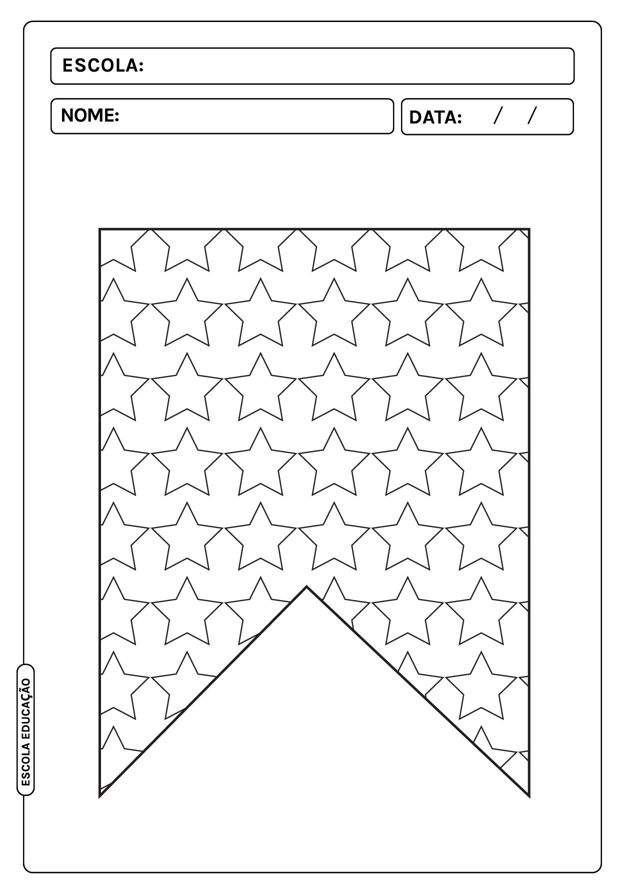 Bandeirinhas festa junina para colorir