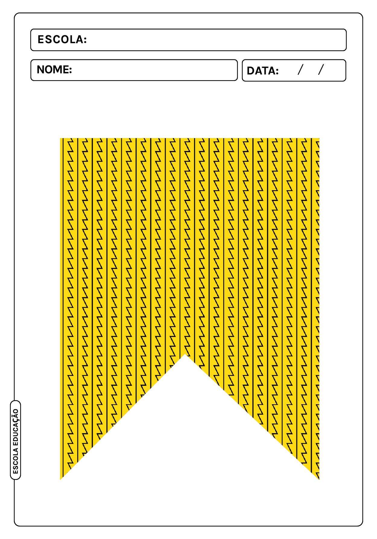 Bandeirinhas de festa junina para imprimir