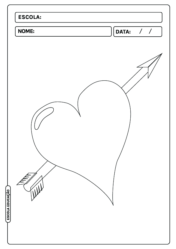 Coração para colorir