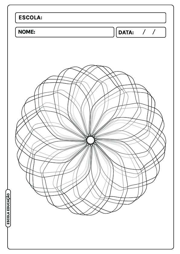 Flor para colorir