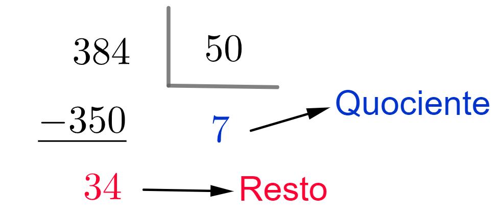 Divisão - quociente e resto