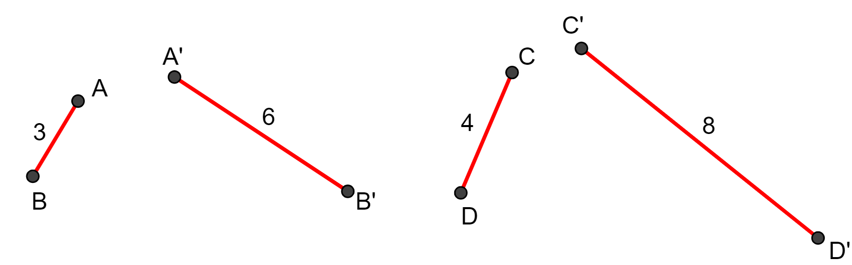 Pares de segmentos proporcionais - teorema de Tales
