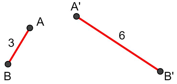 Razão de segmentos teorema de Tales