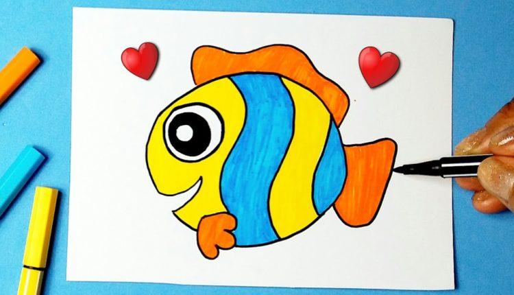 40 desenhos de peixe para colorir
