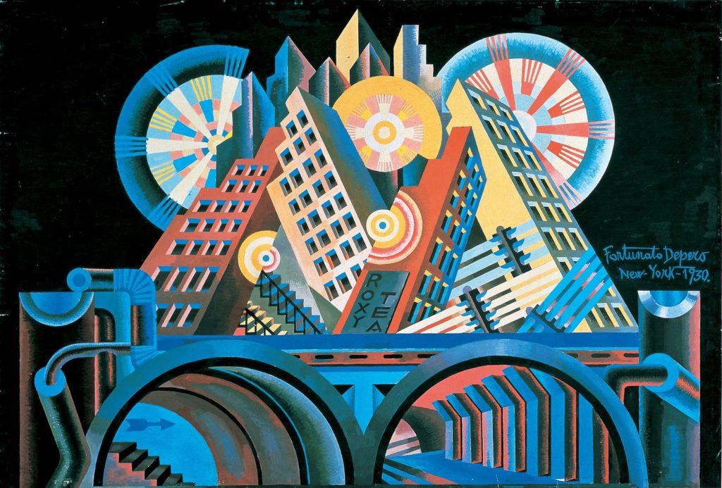 Arranha-céus e túneis - Fortunato Depero