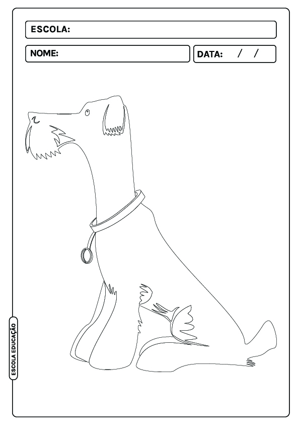 Cachorro para colorir