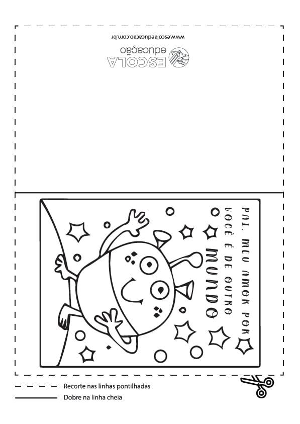 Cartão Dia dos Pais para colorir