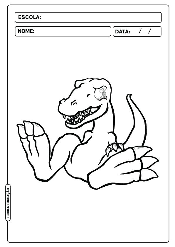 Dinossauro para colorir