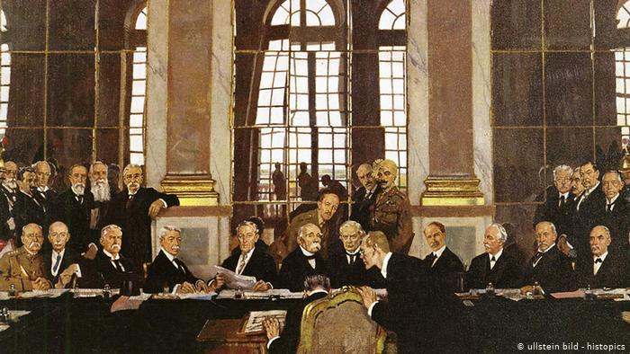 Exercícios sobre o Tratado de Versalhes