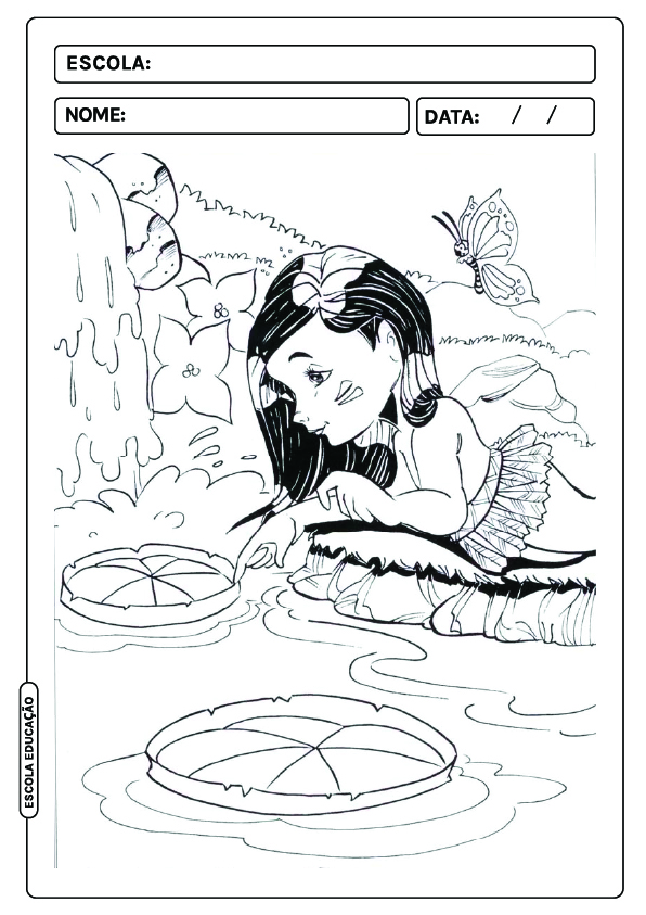 Personagens Folclore para colorir