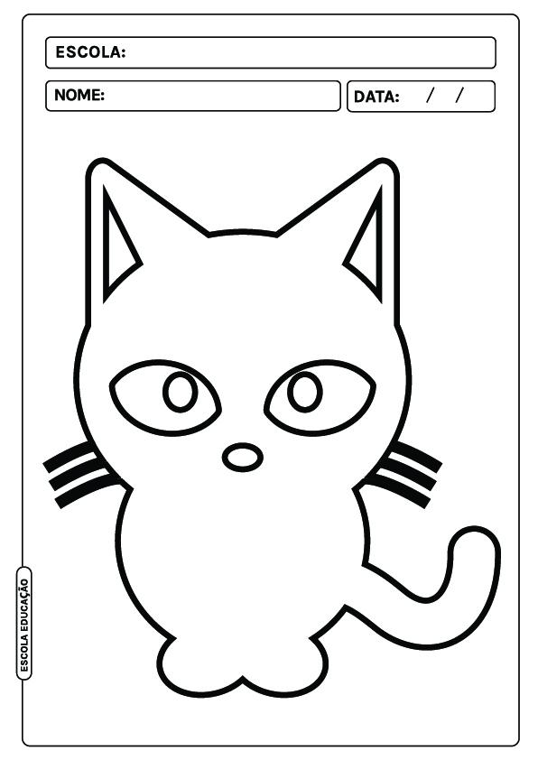 Gato para colorir
