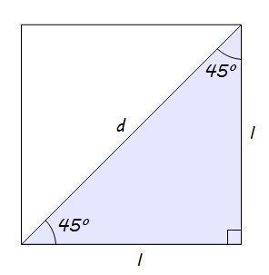 Seno e cosseno de 45°