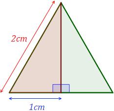 Altura de um triângulo equilátero