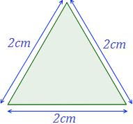Exemplo de triângulo equilátero