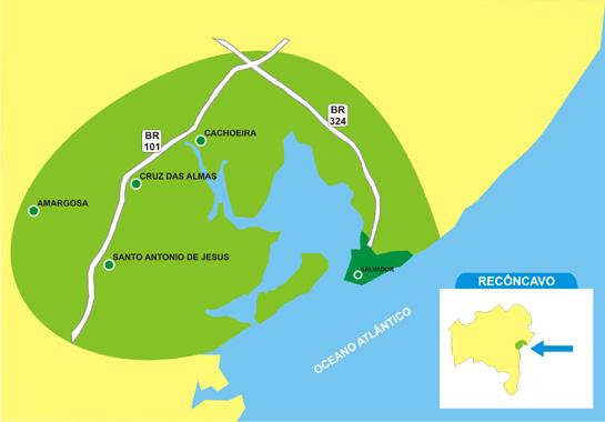 Mapa Recôncavo Baiano