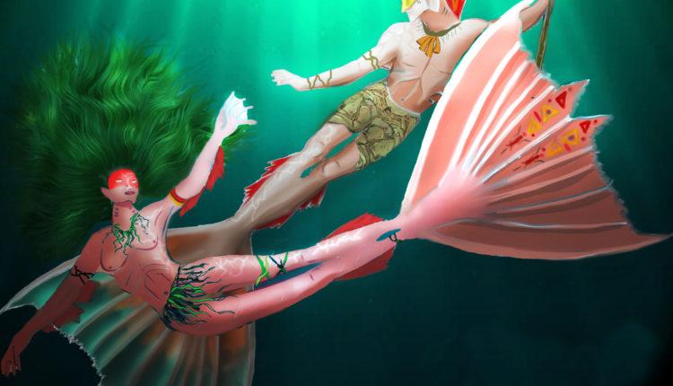 22 Desenhos da sereia Iara para colorir - Folclore Brasileiro