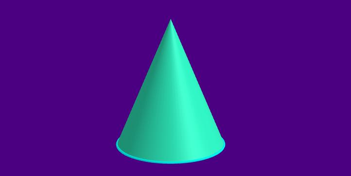 Volume do cone