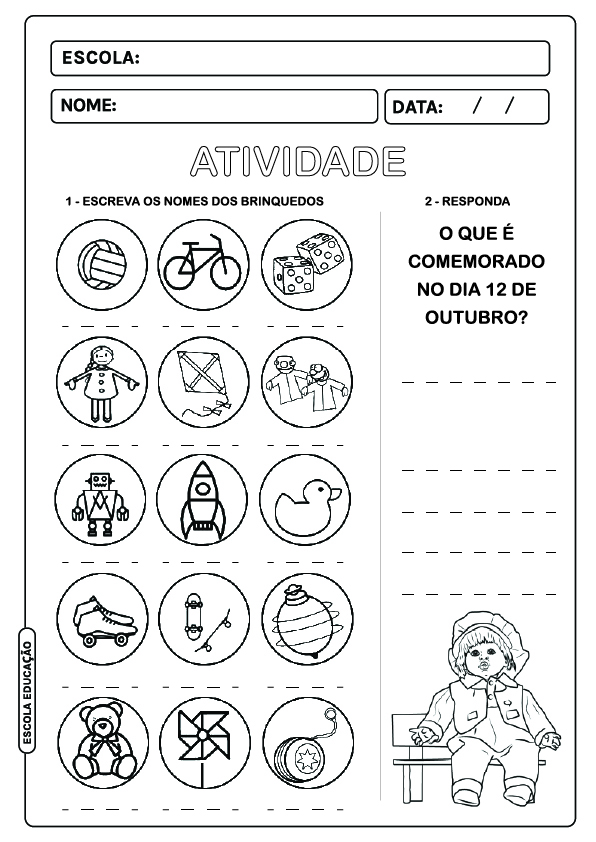 Atividade Dia das Crianças