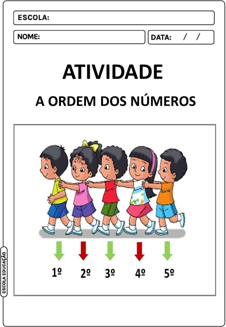 Atividade sobre a ordem dos números