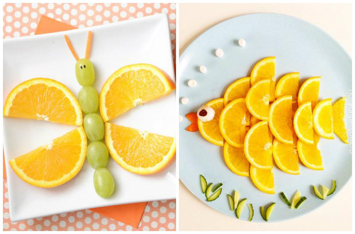 Animais feitos com frutas