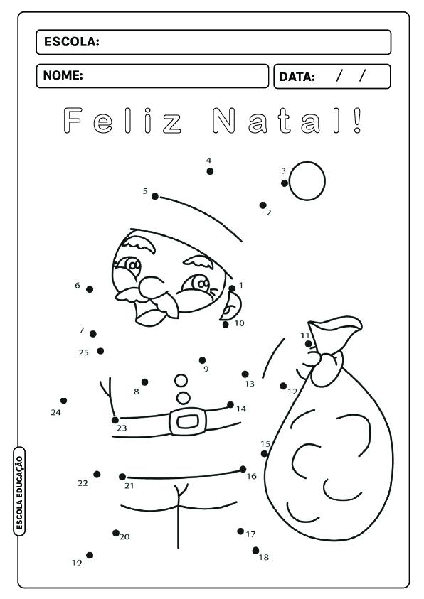 Atividades de natal para imprimir e colorir