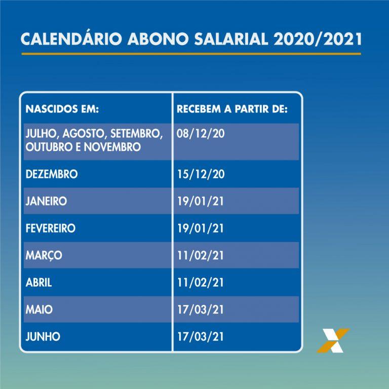 Calendário Abono Salarial 2020 2021