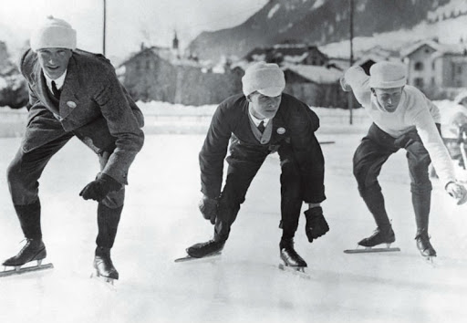 Atletas nas Olimpíadas de Inverno em 1924