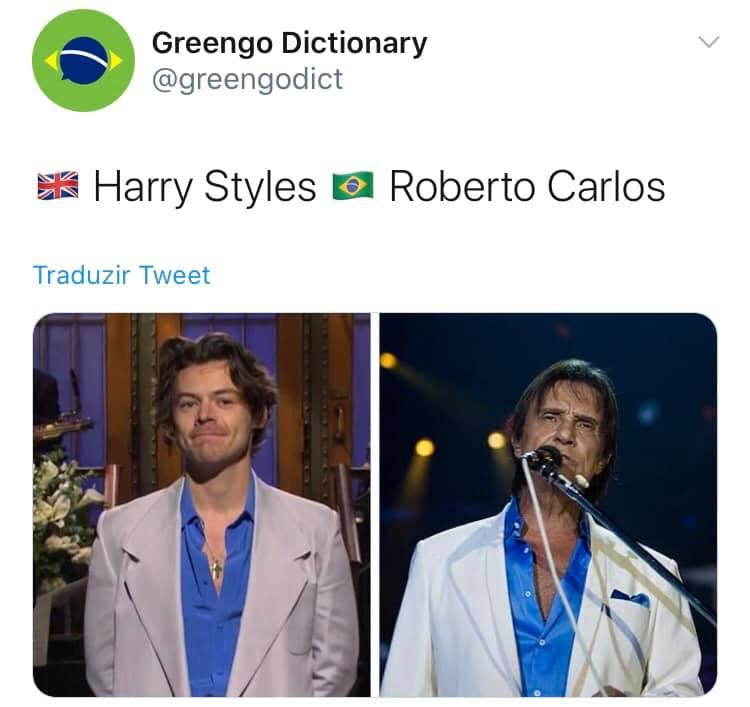 Same energy - Meme Roberto e Harry Styles