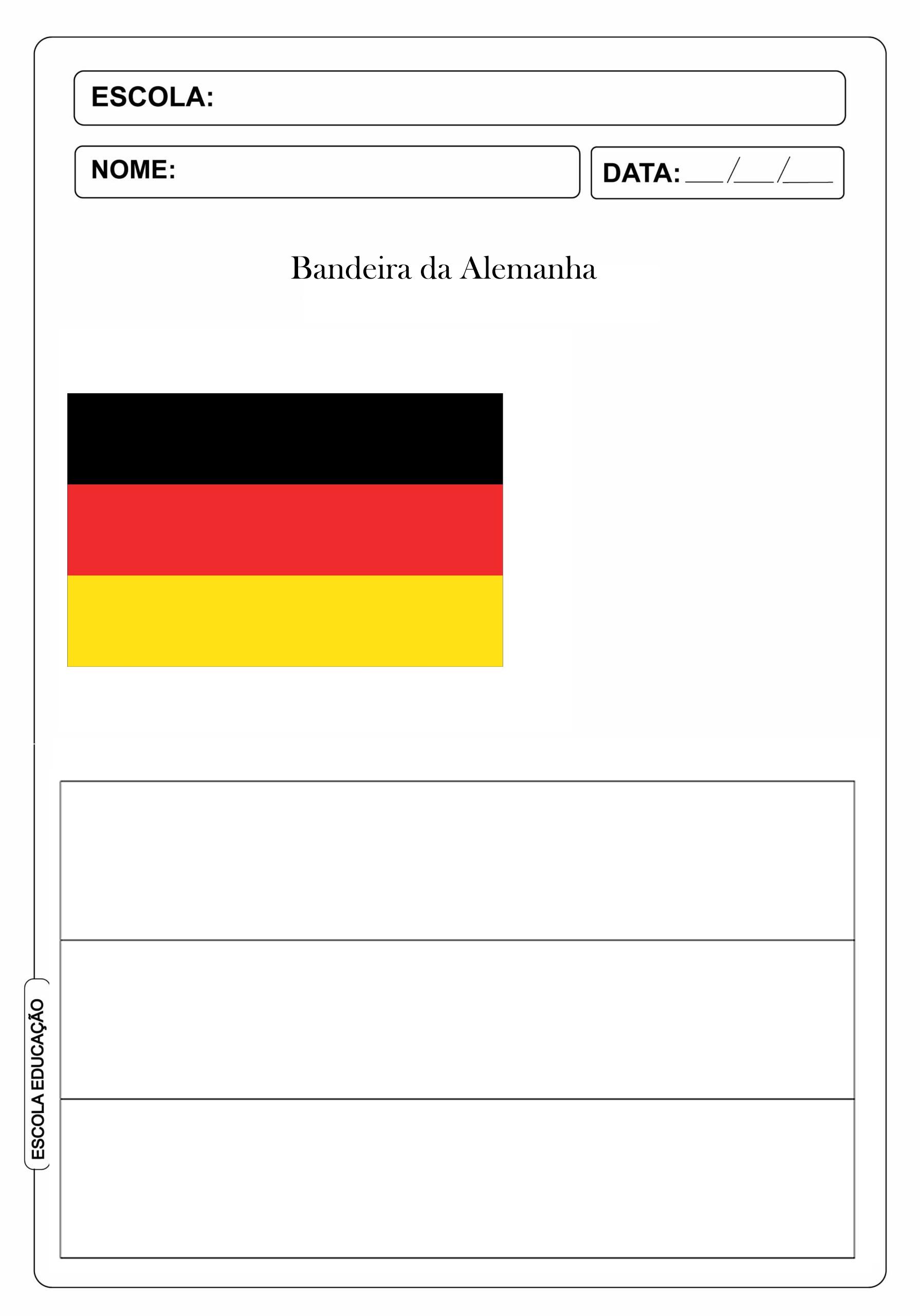 Bandeira da Alemanha para colorir